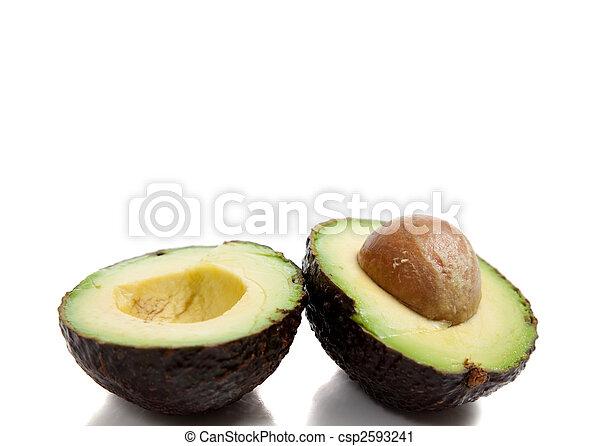 avocado's, witte achtergrond - csp2593241
