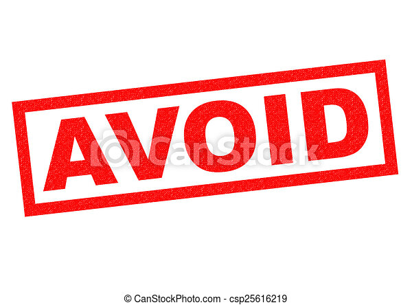 avoid red rubber stamp over a white background
