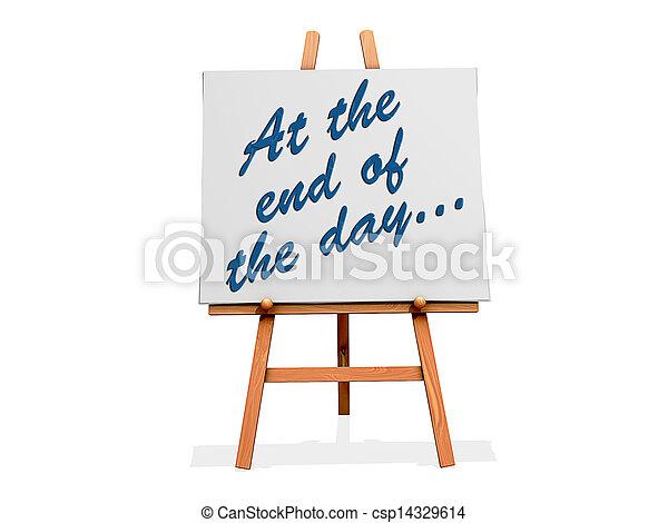 avsluta, dag - csp14329614