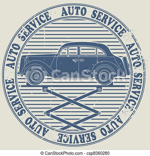 Avto service stamp - csp8360280