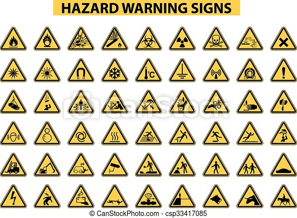 avvertimento, azzardo, segni - csp33417085