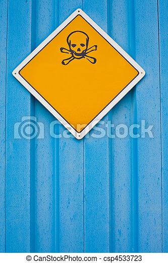 avvertimento, crossbones, cranio, segno - csp4533723