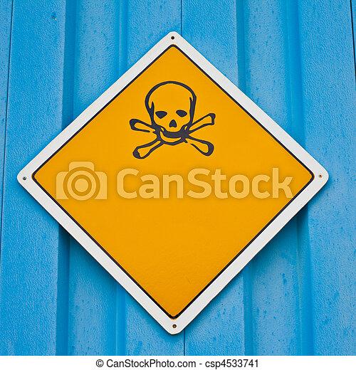 avvertimento, crossbones, cranio, segno - csp4533741