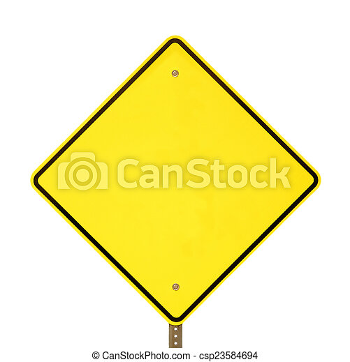 avvertimento, nero, segno giallo - csp23584694