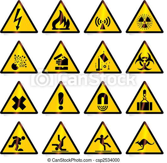 avvertimento, (vector), segni - csp2534000