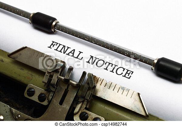 avviso, finale - csp14982744