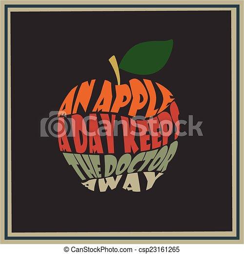 Una manzana al día mantiene al doctor awa - csp23161265