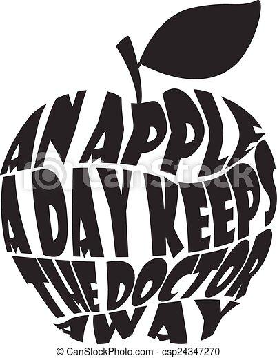 Una manzana al día mantiene al doctor awa - csp24347270