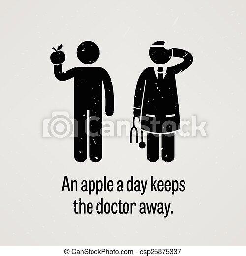 Una manzana al día mantiene al doctor awa - csp25875337