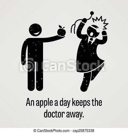 Una manzana al día mantiene al doctor awa - csp25875338