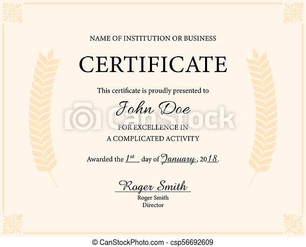Award Certificate This Is An Award Certificate Template It Is