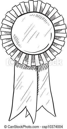 Award ribbon sketch - csp10374004