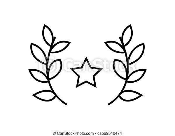 Award winning symbol illustration vector on white background. - csp69540474