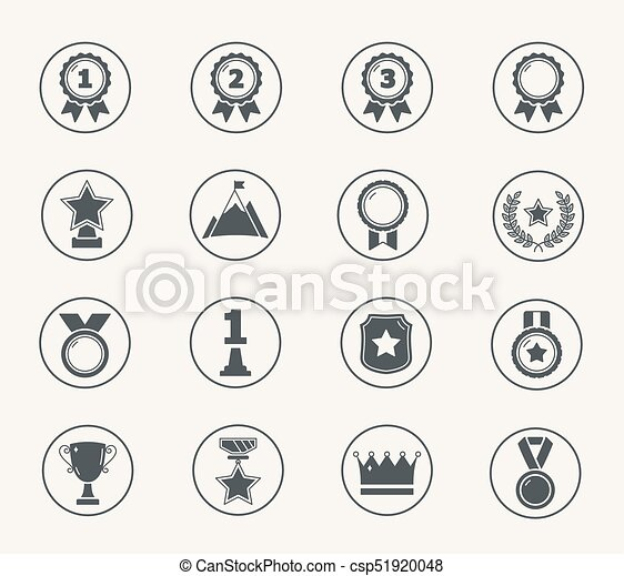 Awards Icons - csp51920048