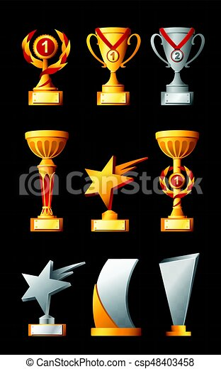 Awards - realistic vector set of trophies - csp48403458