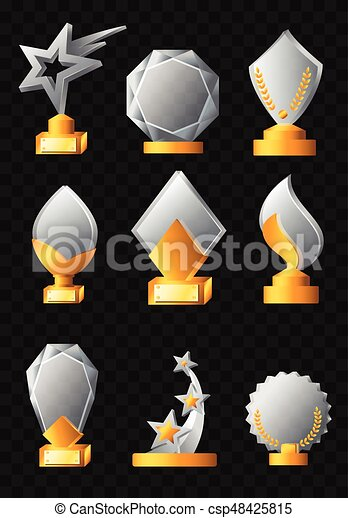 Awards - realistic vector set of trophies - csp48425815