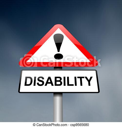 Sensibilización de discapacidad. - csp9565680