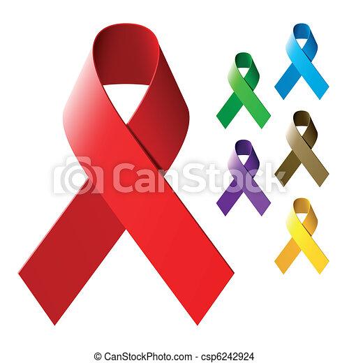 Awareness ribbons - csp6242924