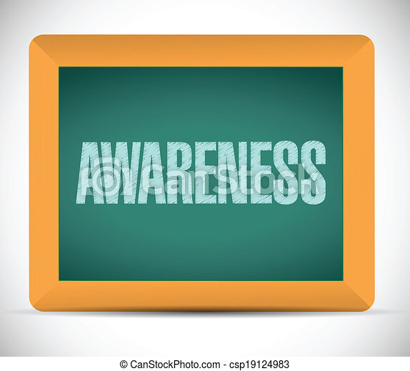 awareness sign message on a board. illustration - csp19124983