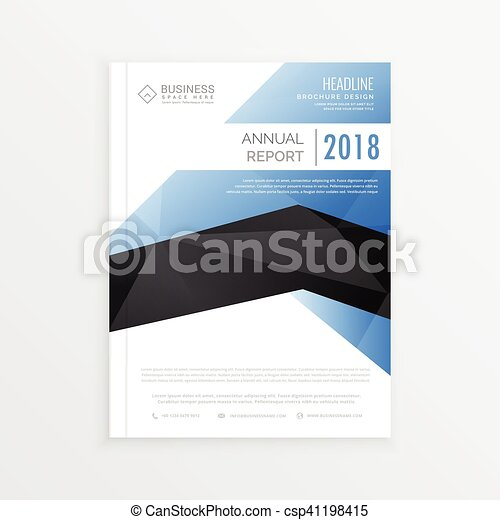 Awesome Business Brochure Template With Blue And Black Vector - Business brochure template