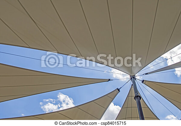 awning roof of a modern building - csp84015715