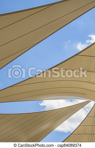 awning roof of a modern building - csp84089374