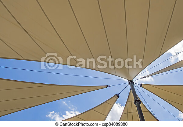 awning roof of a modern building - csp84089380