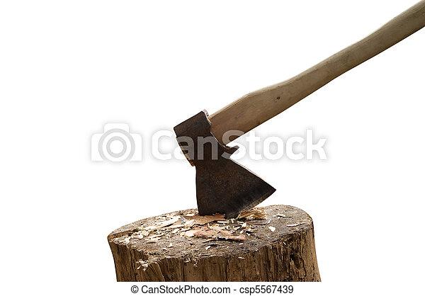 Axe and log - csp5567439