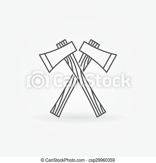 Axe line icon - csp29960359