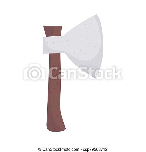 axe tool wooden handle isolated icon design - csp79583712