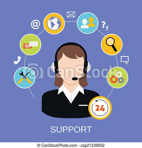ayuda al cliente, servicio - csp21239002