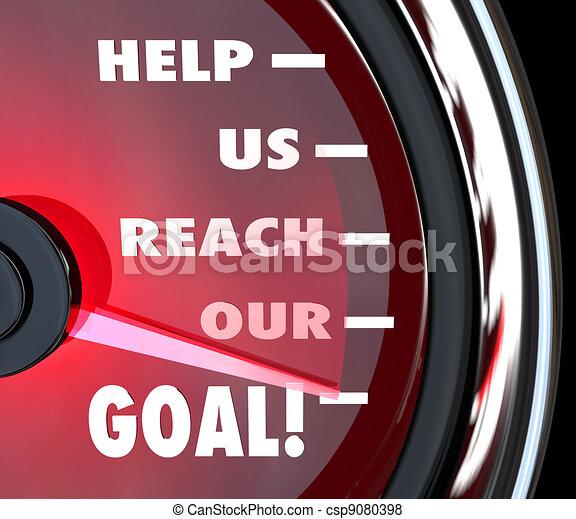 Ayúdanos a alcanzar nuestro apoyo para recaudar fondos - csp9080398