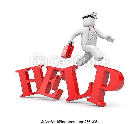 ayuda, médico, hastens - csp17661338