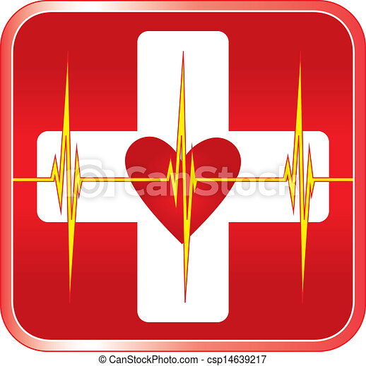 Simbolo médico de primeros auxilios - csp14639217