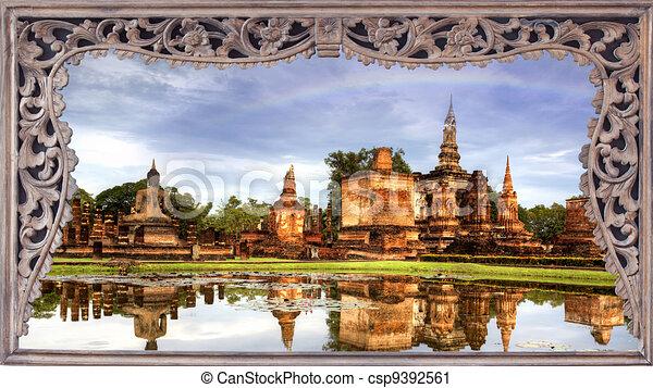 Ayutthaya Historical Park in Thailand - csp9392561