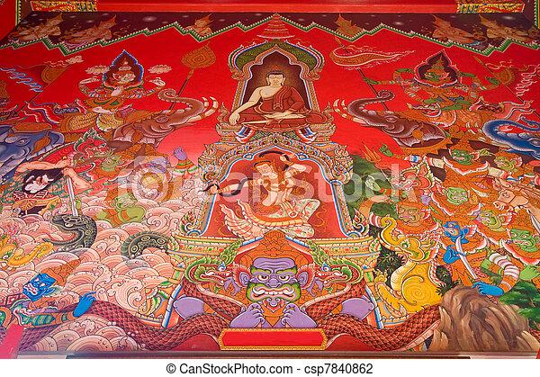 Ayutthaya Historical Park in Thailand - csp7840862