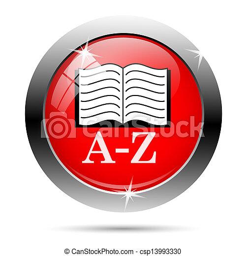 AZ book icon - csp13993330