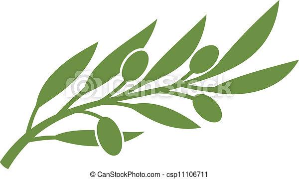 azeitona, symbol), (olive, ramo - csp11106711