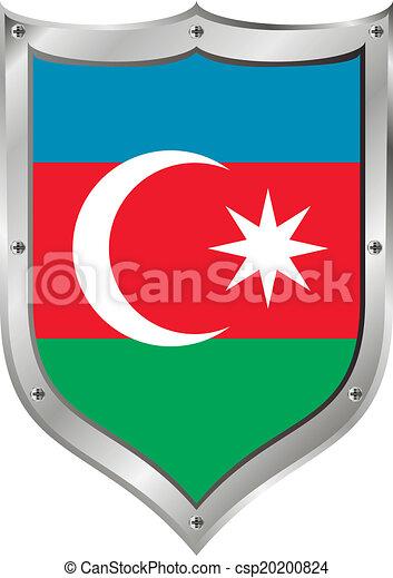 Azerbaijan flag button. - csp20200824