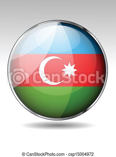 Azerbaijan flag button - csp15004972