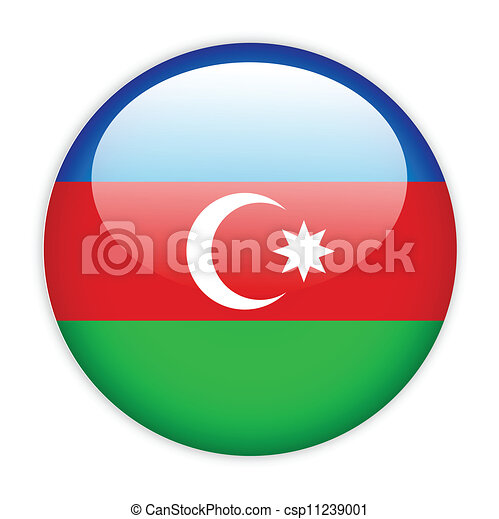 Azerbaijan flag button - csp11239001