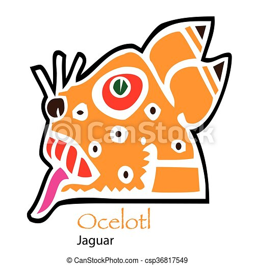 aztec calendar ocelotl jaguar icon eps vector search clip art rh canstockphoto com aztec clipart black and white aztec clip art free