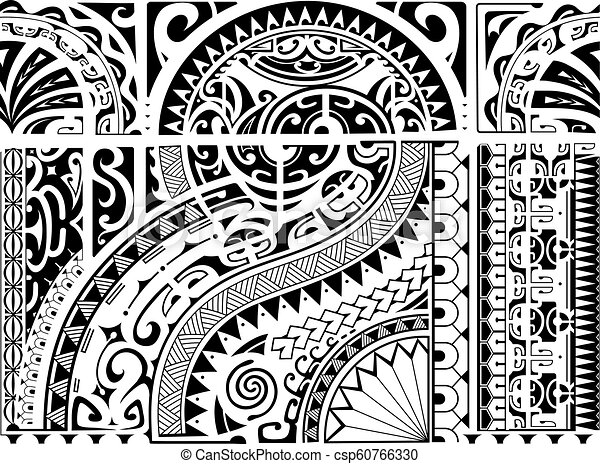 06088134d03e9 Aztec ethnic style ornament. Aztec style ornament for sleeve tattoo ...