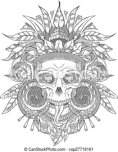 Aztec indian skull csp27716161