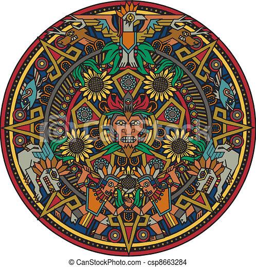 Aztec Mandala - csp8663284