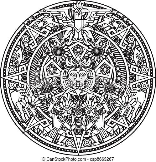 Aztec Mandala - csp8663267