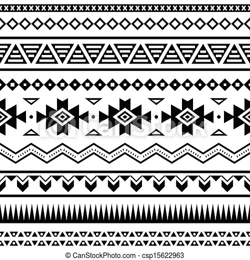 Aztec mexican seamless pattern - csp15622963