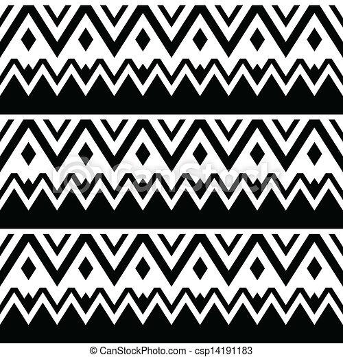 Aztec seamless pattern, tribal - csp14191183