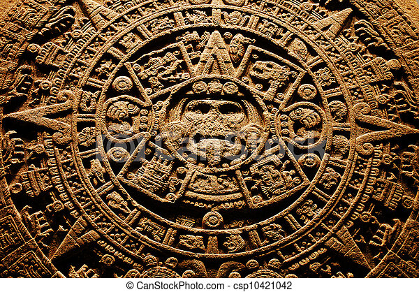 Aztec stone calendar. end of the world 12.12. 2012.
