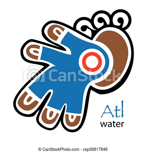 Aztec Symbol For Water And Reed Eps Vector Search Clip Art